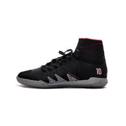 Wholesale Tf Soccer Shoes - New 2017 HOT Soccer Cleats Hypervenom Phantom II TF Boots Coffee Black Soccer Shoes Neymar JR Soccer Cleats Indoor Shoes