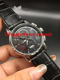 Wholesale Cheap Mechanical Wristwatch - High quality automatic luxury brand watches men's fashion M wristwatch stainless steel case black leather strap cheap watch