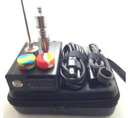 Caixa de unhas on-line-E kit de unhas Com novo titânio Prego De Vidro Bong Controlador De Temperatura Eletrônico Caixa Para DIY Smoker D prego Bobina de Cera De Erva Seca caixa dabber