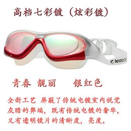 Wholesale Swimming Goggles Degree - Swimming glasses cool force explosion anti fog box large degree myopia mirror Hyun chroma waterproof factory direct sales swimming goggle