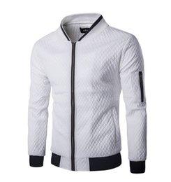 Giacca a vento da uomo patchwork PU sottile 2018 Nuova moda primavera / autunno Coltiva il tuo tipo di giacca da baseball da uomo per il tempo libero da