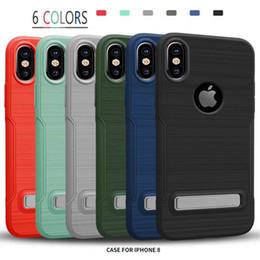 Wholesale Waterproof E4 - Non-slip Kickstand Cellphone Case For Iphone 6S 7 Plus TPU+PC For Motorola E4 G5 Plus Waterproof Case For j7 prime Cover 2017 New