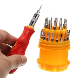 Wholesale Universal Bits - Cell Phone Repairing Tools 31in1 Magnetic Mini Screwdriver Bits Torx Kit Phone Watch Laptop Repair Tool Set