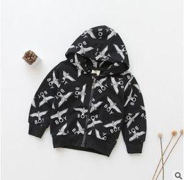 Wholesale Wholesale Coats Jackets For Children - Boys Casual Cartoon Jacket Coat Hoodies for Children Boys FALL Winter Warm Fashion Kids Zipper Hoodies Tops Boutique Kids Clothes 1-6Y