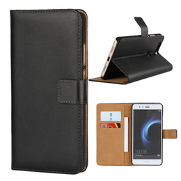 Wholesale V8 Cover - For Huawei V8 Real Genuine Wallet Leather Case Credit Card Pocket Stand Holder Magnetic Cover For Honor V8