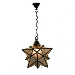 Wholesale Purple Halogen Lights - Discount Industrial Vintage Glass Monrovian Moravian Star Ceiling Pendant Light fixtures for Kitchen Bar