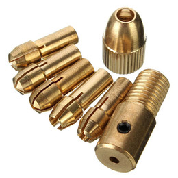 Wholesale Electric Micro Drill - 8pcs 0.5-3mm Micro Twist Drill Chuck Set Small Electric Drill Bit Collet with Allen wrench