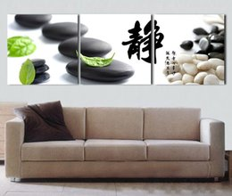 "Wholesale Life Quotes Painting - 3 Panel Picture Chinese Calligraphy Works ""Harmony""Character Quote Wall Art Canvas Print Painting for Living Room Bedroom Mural Decor"