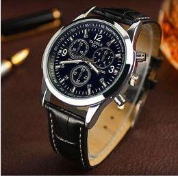 Wholesale Leather Belts Men Cheap - New listing Yazole Men watch Luxury Brand Watches Quartz Clock Fashion Leather belts Watch Cheap Sports wristwatch relogio male