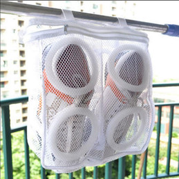 Wholesale Vaccum Cleaners - Shoes Washing Bags Net Wash Washing Cleaner Boot Utility Sneaker Sports Laundry Shoes Hanging Bag Storage Organizer Bags 100pcs OOA2702