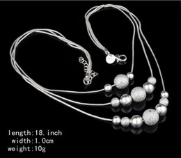 Wholesale Sterling Silver Initials - 12pcs lot!Fine jewelry charm 925 silver plated bead necklace classic high-quality fashion accessories priced at direct wholesale gift