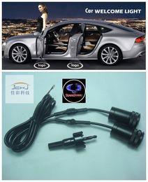 Wholesale Car Logo Lamps - Ghost Shadow Light For SsangYong LED Car Logo Projector Car Decorative Accessories Emblem Welcome Door Light 3D Laser Lamp