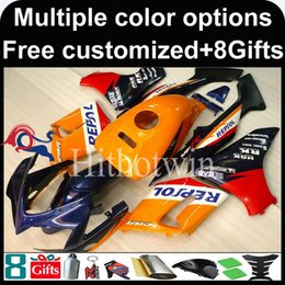 Wholesale Honda Cbr125r Fairings - 23colors+8Gifts watermelon red Boda kit motorcycle cowl for HONDA CBR125R 2004-2005 04 05 CBR 125R 04-05 ABS Plastic Fairing