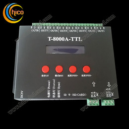 Wholesale Rgb Pixel Controller - wholesale economical RGB controller T-8000A-TTL LED controller support 8192 pixel light with IC WS2811 SM16726 P9813 LDP6803