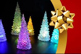 glitterband großhandel rot Rabatt Eisige Kristall Farbe LED Weihnachtsbaum Dekoration Licht Weihnachten Nachtlicht Gute Qualität Brand New Heiße Verkäufe