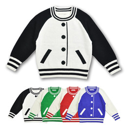 Wholesale cardigan match - Family Matching Outfits Sweater Kids Baseball Style Pullover Mother and Daughter Clothes Autumn Spring Winter Sweater False cardigan