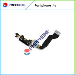 Wholesale Iphone 4s Charging Flex - Good Quality Charging Port Dock Connector Flex Cable For iPhone 4S USB Charger Port Flex Cable