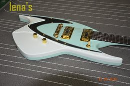 Wholesale China Guitars For Sale - free shipping blue guitar shaped 2017 electric guitar 6 strings custom shop Guitar Factory Cost-effective China HOT SALE Personal cheap