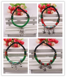 Wholesale Woven Jade Charm Bracelet - 2016 New Bracelets Ceramic Jewelry Small Jewelry Boutique Beach Manual Bracelet Hand-woven Rope Characters Handicraft Gift