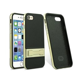 Wholesale Two Phones One Case - valued Twill Mobile phone shell bracket two in one Anti-knock Dirt-resistant TPU phone case for iphone 7