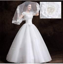 Wholesale Short Sleeves For Dresse - Han Edition Cultivate One's Morality Married Lace Strap For Wedding Dress Plus Size Wedding Dress Bridal Gown Custom Size Red Carpet Dresse