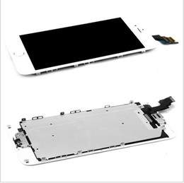 Wholesale Menu Screens - Black For iPhone 6 4.7 LCD Display Touch Screen Digitizer+Front Camera+Menu Button+Bezel Frame Full Assembly Free Shipping