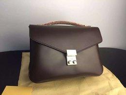 Wholesale European Style Coffee - 2016 Hotselling luxury brand designer michaelled women handbags shoulders Real leather bag messengers bag POCHETTE METIS 0780