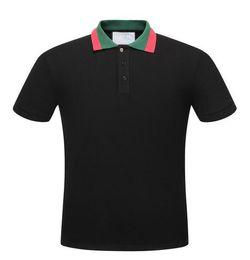 Wholesale Branded Polo Tee - 2018 New Fashion Italy mens polo shirt T-shirt Luxury Brand High street embroidery man tees polos short sleeve M-3XL