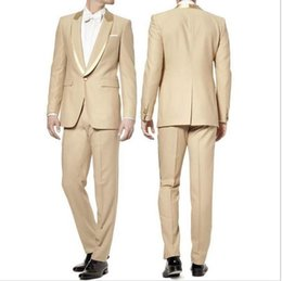 Wholesale Royal Row - The new design the groom tuxedo two-piece single row a button luxury men suit (jacket and pants)
