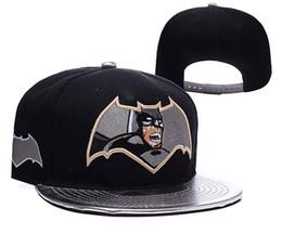 Wholesale New Batman Caps - New Brand Batman Superman Super Hero Snapbacks Hip Hop Caps Hat Women Cool Baseball Cap Casquette Snapbacks Ball Caps For Men