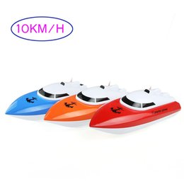 Wholesale Remote Controlled Boat Red - Wholesale- 802 RC Racing Boat Ship for Shipping 4CH Remote Control Toy Speed Boats Mode 2 Speedboat 25x7.5x7.5cm