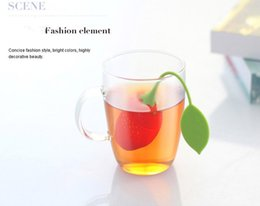 Wholesale Free Tea Bags - Wholesale Hot Sale Silicon Teabag Lovely Strawberry Tea Strainer Filter Infuser Lemon Style Tea Bag Coffee tools Free Shipping