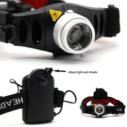 Wholesale Led Lamp Torch Magnetic - Zoomable Magnetic Push 500LM CREE Q5 LED Headlight Torch Headlamp 2 Modes Outdoor Hunting Fishing Lamp head light
