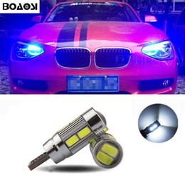Wholesale e64 e63 bmw - BOAOSI T10 5630SMD LED Parking Lights Sidelight No Error For BMW E46 E39 E91 E92 E93 E28 E61 F11 E63 E64 E84 E83 F25 E70 E53 E71 E60