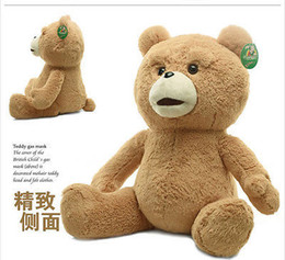 Wholesale Ted Christmas Bear - Wholesale cheap 60cm Teddy Bear Ted The Movie X R Plush Dolls ted bear toy & Free Shipping