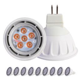 Wholesale Spot 12v Led 6w Mr16 - LED MR16 12Vac 12Vdc 6W Spot Light Bulb 540lm Gu5.3 RA80 BridgeLux Chip And Transformer Adaptable