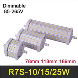 Wholesale Led R7s 15w - Dimmable R7S LED corn bulb SMD 5730 led light bulbs 10W 15W 25W AC85-265V Lampada corn led Replace Halogen Lights