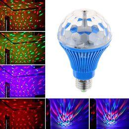 projecteur dimmable Promotion 16 disco tournant E00375 d'étape tournante automatique de la lumière 3W de la lumière 3W de lampe de la couleur E27 RVB LED