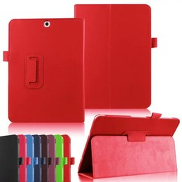 Wholesale S Flip Covers - Folio Litchi Flip PU Leather Stand Case Smart Cover For Samsung Galaxy Tab A S S2 E T280 T350 T550 T700 T800 T715 T815 T377 T560