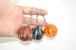 Wholesale T Shirt Key Chain - Colorful Soft PU Basketball Design Key Chains Hanging Ornament,Sports Keychain Key Ring (Diameter:4.5cm)-- lot of t-shirts lot of the rings