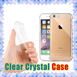 Wholesale Mobile Covers Grand - Transparent TPU Cases Mobile Cover for iPhone 7 6 6s plus samsung Galaxy J3 J7 Grand Prime S7 Crystal Clear Case LG G4