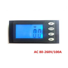Wholesale Kwh Voltage Meter - Wholesale-5 in 1 AC 80-260V 100A Digital Energy KWh Power W Voltage Current Working Time meter gauge Free shipping