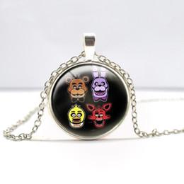 Wholesale Tile Necklaces - Free Shipping Hot Jewelry Distributor 5 Five Nights at Freddy's FREDDY FAZBEAR Scrabble Tile Antique Bronze Necklace-B35