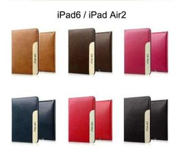 Wholesale Apple Ipad Sales - Hot Sale !!! New Genuine Leather Deluxe business style Case For iPad 2 3 4 iPad Air 2 Mini 4 Leather with stand DHL Fast Shipping