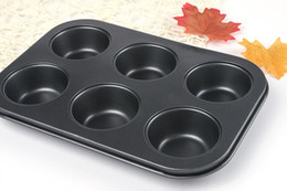 Wholesale Cupcakes Accessories Wholesale - Pan Muffin Cupcake Bake Mould Bakeware 6 Cups Dishwasher Safe Versatile Sturdy Cooking Tools Kitchen Chocolate Accessories