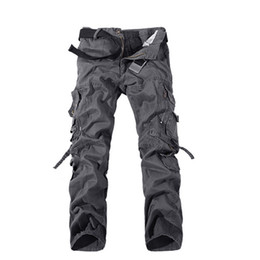 Wholesale Mens Camouflage Combat Trousers - Wholesale-2016 Brand Fashion Mens Straight Trousers Casual Combat Camouflage Work Pants Army Cotton Cargo Military Pants Plus Size 32-42