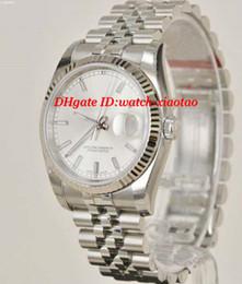 Proveedores de oro blanco online-Proveedor de fábrica Relojes de lujo 116234 Oro blanco de 18 k Reloj de 41 mm Pulsera de acero inoxidable Reloj de pulsera automático para hombres