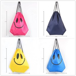 Wholesale Mens Backpack Casual - fashion Cute Emoji Drawstring Bags for Women Mens Children Cartoon Unisex Emoji Backpacks Fashion Smile Printed Student bags D763