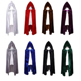 Wholesale cape clothing - DHL free shipping halloween vampire cape fancy dress costumes party cosplay devil witch hooded robes halloween cloak clothes for adult