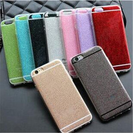 Wholesale Wholesale Iphone 4s Backs Colors - Glitter TPU soft cases ultrathin shockproof bling back covers for iphone 4 4s 5 5s se 6 6s plus 9 colors